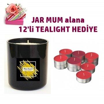 NC55-NC JAR MUM-TEALIGHT SET HEDİYELİ