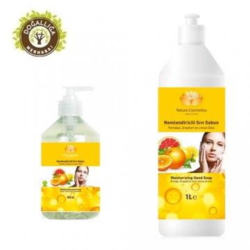 BİTKİSEL SIVI SABUN-Limon,Portakal-1 LT + 0,5 LT